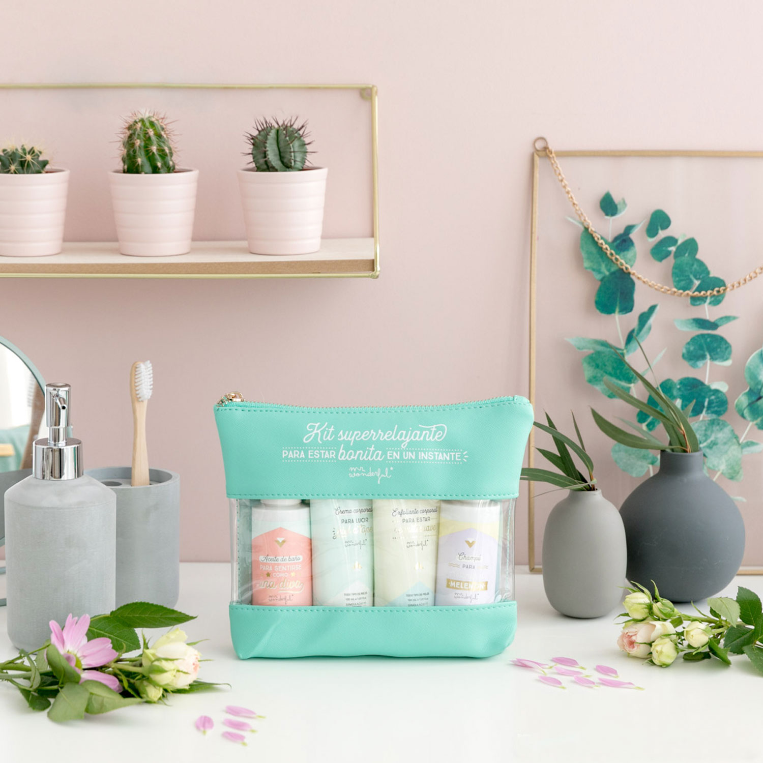 Super-relaxing kit to be pretty in an instant